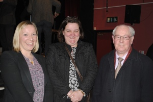 Minister Lucinda Creighton, Cllr. Gabrielle McFadden (FG) and Austin Berry, former Mayor of Athlone