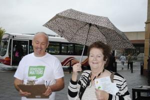 John McNamara and Mary O'Rourke looking for a No Vote