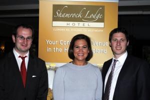 Cllr. Paul Hogan, Deputy Mary Lou McDonald and Cllr. Matt Carty, before the Sinn Fein dinner dance in Athlone.