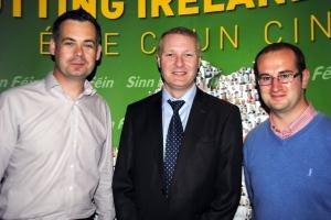 Deputy Pearse Doherty, Cllr. Martin Kenny and Cllr. Paul Hogan