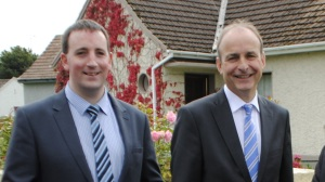 Pictured in Roscommon during the by-election.  Cllr. Ivan Connaughton and Deputy Micheal Martin.